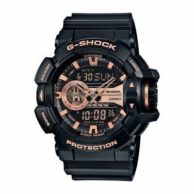 Casio G-Shock Black and Rose Gold-Tone Dial Resin Quartz Men's Watch GA400GB-1A4 comprar usado  Enviando para Brazil