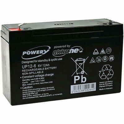 Powery Bateria de GEL para Scooter Sillas de ruedas Scooter eléctrica