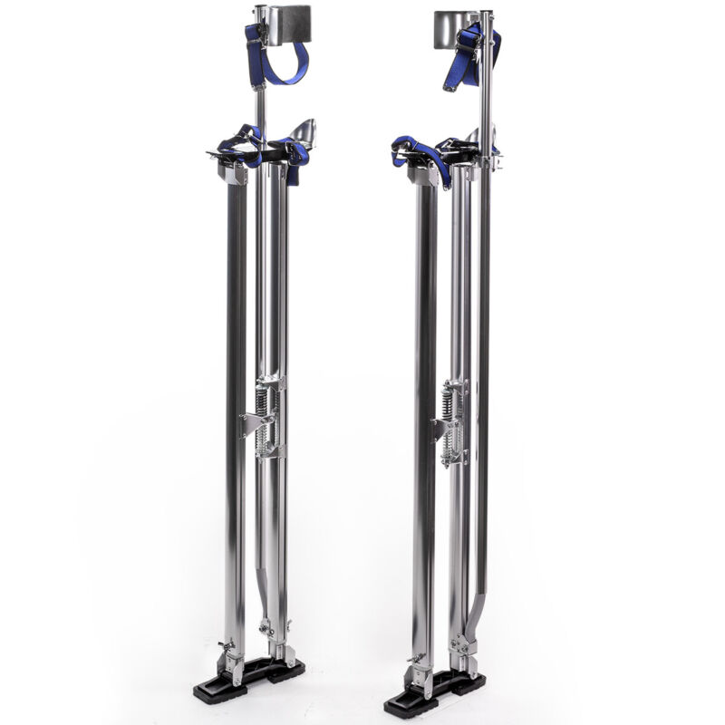 Drywall Stilts Aluminum Tool Stilt 46-64 Inch For Taping Painting Painter Silver