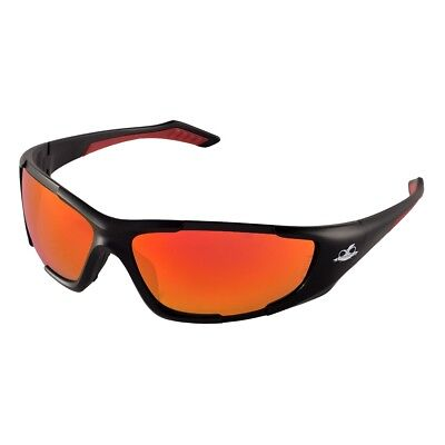 Bullhead Javelin Safety Glasses With Red Mirror Lens Black Frame
