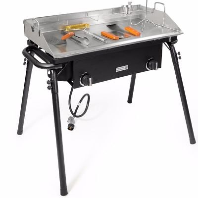 - Outdoor Propane LPG Flat Top Cooker Grill With Stand Griddle