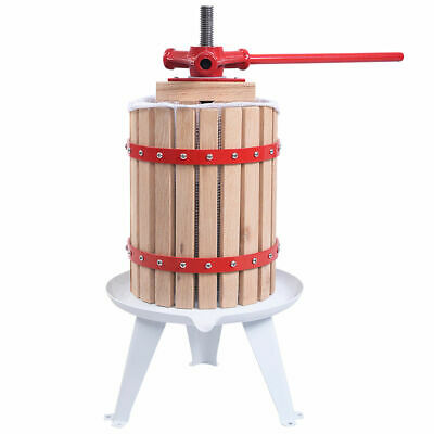 1.6 Gallon Fruit Wine Press Cider Apple Grape Crusher Juice Maker Tool Wood New