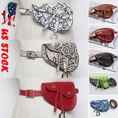 2019 Women Waist Fanny Pack Belt Bag Pouch Travel Hip Bum Bag Mini Snake Purse