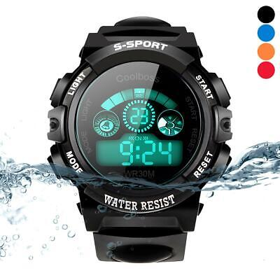 Waterproof Children Watches Students Digital LED Quartz Alarm Sports Wrist Watch
