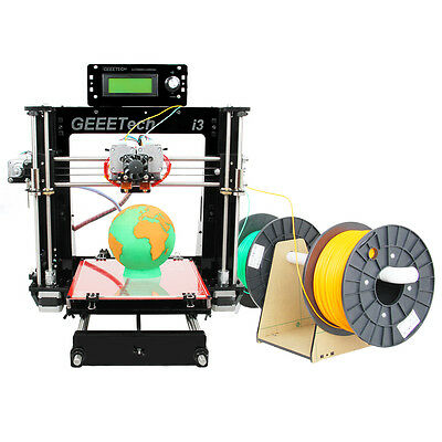 From USA! Geeetech Acrylic Prusa I3 Dual extruder MK8 3D Printer LCD2004