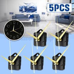 5x Gold Hands Wall Quartz Clock Spindle Movement Mechanism Repair Tool US