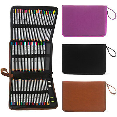 72 Slots 3 Layers Zipper Marker Pen Art Pencil Storage Case Holder Bag Portable (Art Supply Bag)