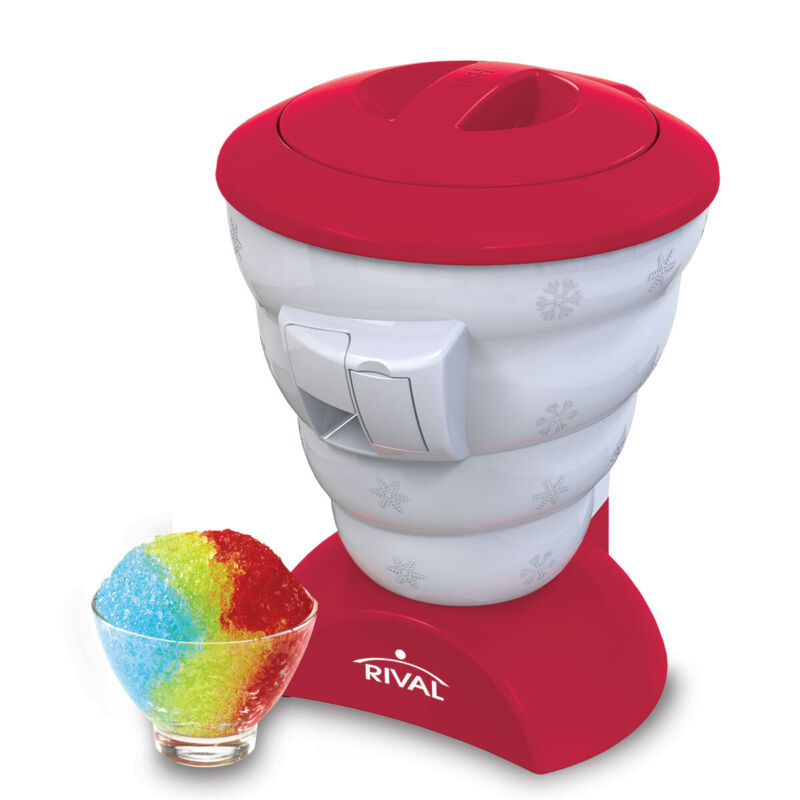 Rival Blizzard Flavored Ice Shaver Snow Cone Maker, Red (Certified Refurbished)