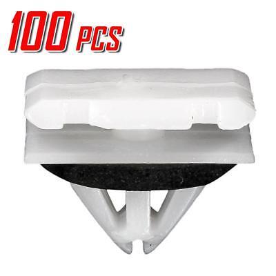 100pcs Fender Rocker Panel Moulding Plastic Retainer Push Rivet for Cadillac ATS