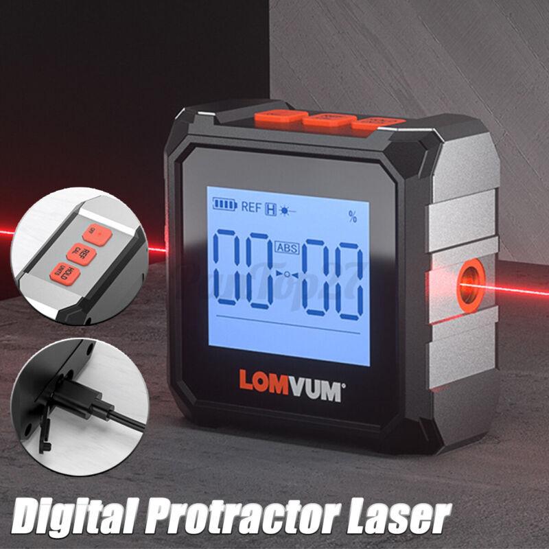 Digital Protractor Laser USB Inclinometer 360° Level Angel Finder High