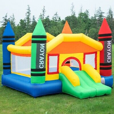 Used, Bouncy House For Kids Outdoor Crayon Castle Inflatable Large Without Air Blower for sale  Shipping to Canada