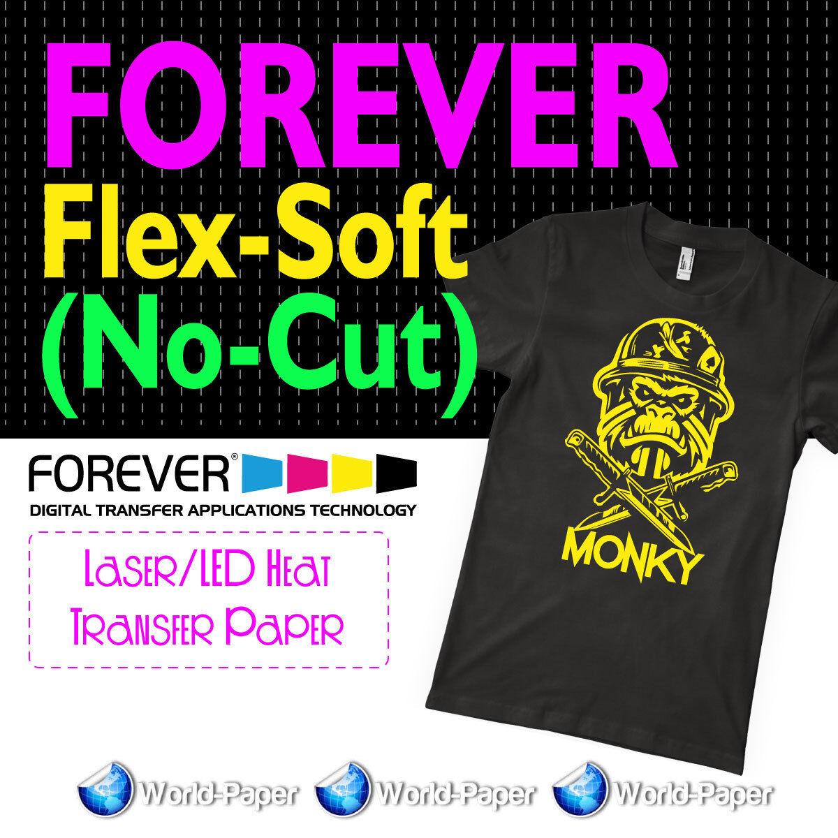 "FOREVER Flex-Soft  Laser/LED Heat Transfer Paper 8.5""x11"" 11"