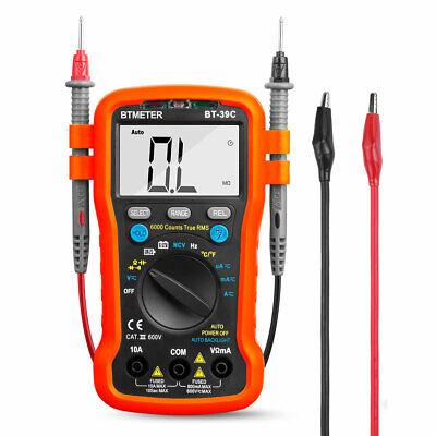 Btmeter Bt-39c Digital Multimeter Auto Range Avometer Meter 6000c Cap Ohm Temp