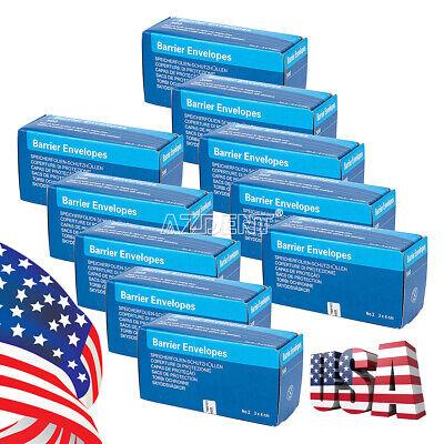 10 Box Dental Digital X-ray Scanx Barrier Envelopes 2 For Phosphor Plate