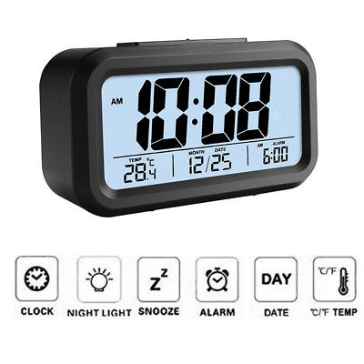 Projection Led Digital Time Calendar Weather Desk Snooze Alarm Clock Backlight