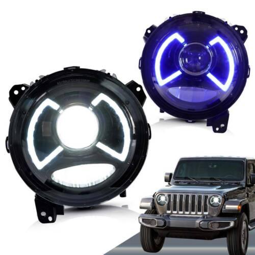 Halo LED Fog Lights Compatible with Jeep Wrangler JL JLU JT Gladiator Sport 2018 2019 2020