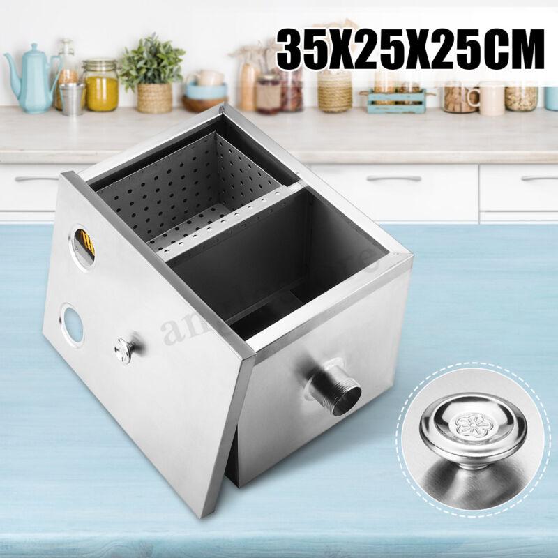 Commercial Grease Trap Stainless Steel Interceptor Filter Kit Restaurant