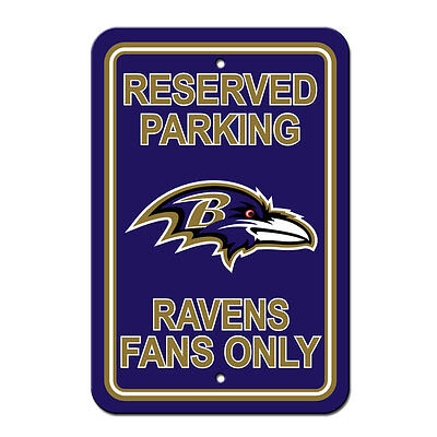 NFL Baltimore Ravens Office Room Home Decor Parking Sign 12