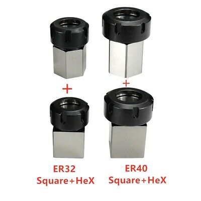 Er32 Er40 Square Hex Collet Block Chuck Holder For Cnc Lathe Engraving Machine