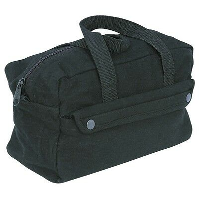"11"" canvas tool bag black"