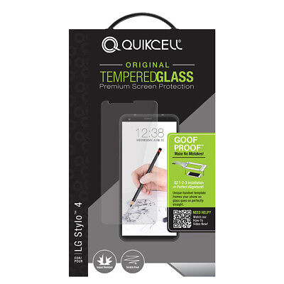 Quikcell - LG Stylo 4 Tempered Glass Screen Protector - BRAND NEW! BEST
