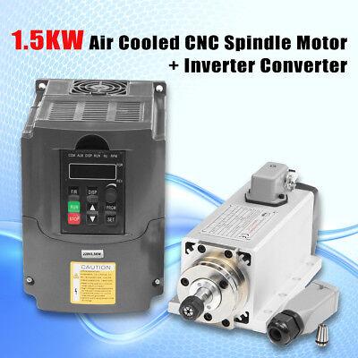1.5kw 1500w Air Cooled Cnc Spindle Motor 1pc Er11 Collet Inverter Converter