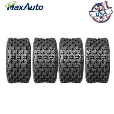 ((4)20X10-9 Rear Sport ATV Tires for Honda TRX250R TRX400EX TRX450ER Polaris)