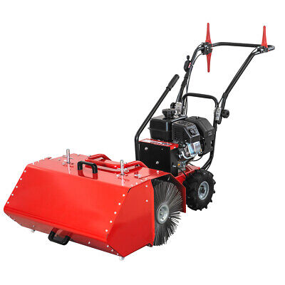 27.5 Walk-behind Power Sweeper Broom 196cc 6.5hp With Dust Collection Bucket
