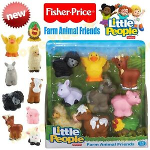 NEW FISHER PRICE LITTLE PEOPLE FARM ANIMAL FRIENDS 9-PACK AGE 1-5 CHRISTMAS GIFT