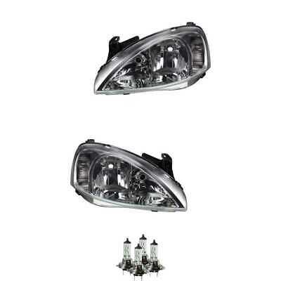 Scheinwerfer Set H7 für Opel Combo Tour Kasten/Kombi Corsa C inklusive Lampen