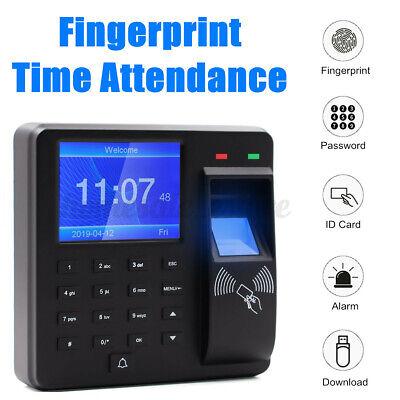 Biometric Fingerprint Attendance Machine Time Clock Employee Check In Out