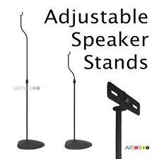"Universal Adjustable Speaker Stands 31-41"". (1 Pair), Many Adapters. Black."