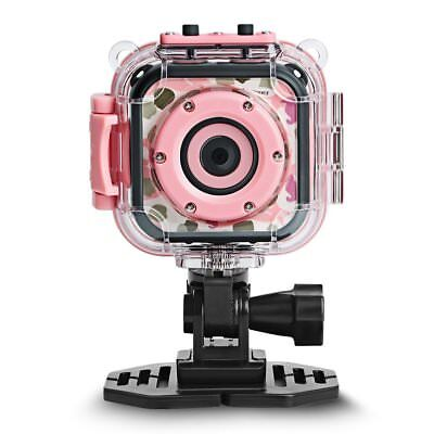 Kids Camera Waterproof HD Sports Action Camcorder Video Recorder Sports Pink NEW