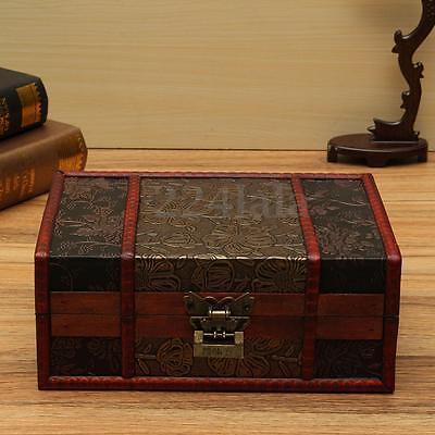 Treasure Box 9.0inch Retro Stamps Small Trunk Box for Jewelry Storage,Treas F5N2