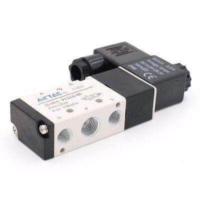 Dc 24v 3w 125ma 2 Position 5 Way Magnetic Solenoid Pneumatic Valve 4v210-08
