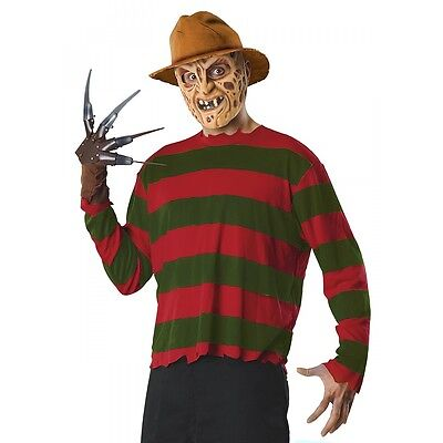 Freddy Krueger Costume Adult Scary Halloween Fancy Dress - Adult Scary Halloween Costumes