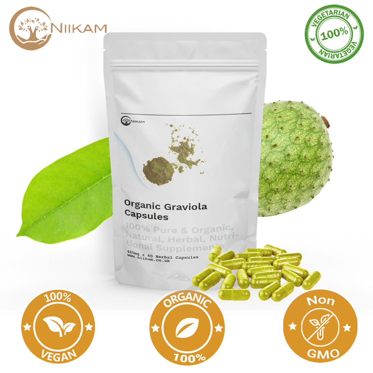 Organic Graviola (Soursop) | Guanabana Soursop Immune Antioxidant Supplement