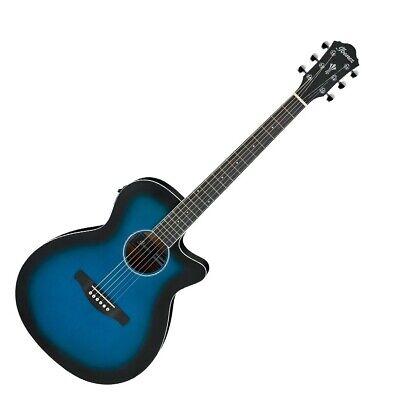 Ibanez AEG7-TBO Electro Acoustic Guitar, Transparent Blue Sunburst Open Pore