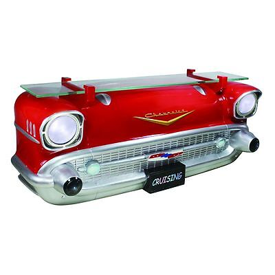 3D Regal: Frontpartie roter Chevy Bel Air 1957 mit Lichter  - cool + hip