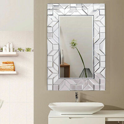 "23.5"" x 35.5"" Rectangular Wall-Mounted Wooden Frame Vanity M"