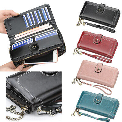 Women PU Leather Long Wallet RFID Money Card Holder Clutch Purse Pocket Handbag Money Long Wallet