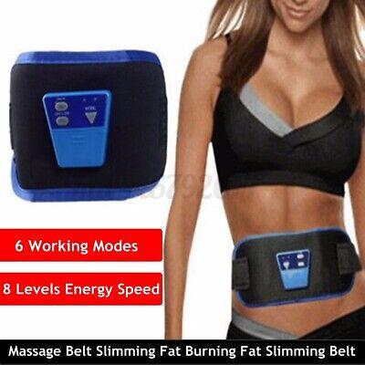 6 Modi Unisex Taille Bauch Elektrisch Abnehmen Gürtel Bauch Former Körper Neu