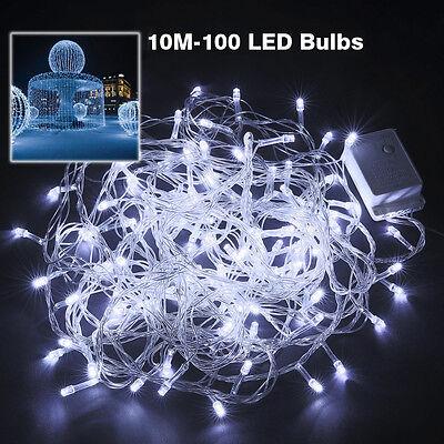 100 LED 10M String Fairy Light Christmas Xmas Party Wedding Garden Outdoor Decor
