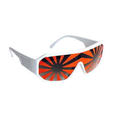 Macho Mann Weiß Orange Starburst Sonnenbrille Randy Savage Kostüm Ringer (Macho Mann Kostüm)