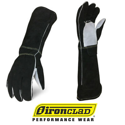 Ironclad Stick Welder Premium Elkskin Leather Welding Gloves - Select Size