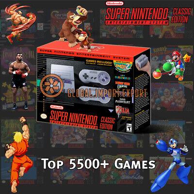 d8cc4b76621 Super Nintendo Classic Edition Console SNES Mini Entertainment System 5500  Games