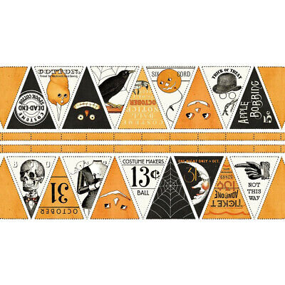 Costume Makers Ball Bunting Cotton Quilting Panel Fabric Halloween Weird](Halloween Bunting Panel)