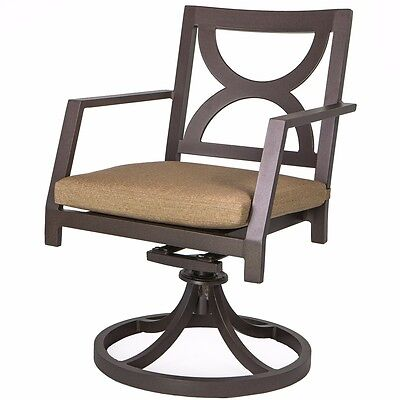 Bronze Outdoor Patio Dining Swivel Chair Swivel Rocker Sunbrella Cushion