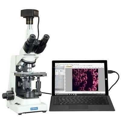 Omax 40x-2000x Plan Ultra-bright Led Usb3 14mp Live Blood Darkfield Microscope