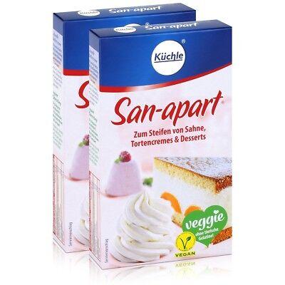 Küchle San-apart 125g - Zum Steifen von Sahne,Tortencremes & Desserts (2er Pack Deutschland Dessert